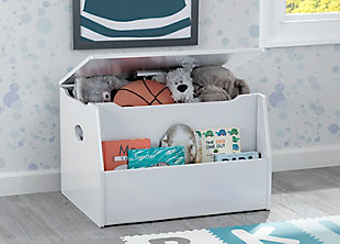 Delta Children Nolan Toy Box, White, rollover