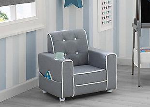 Delta Children Chelsea Kids Upholstered Chair, , rollover