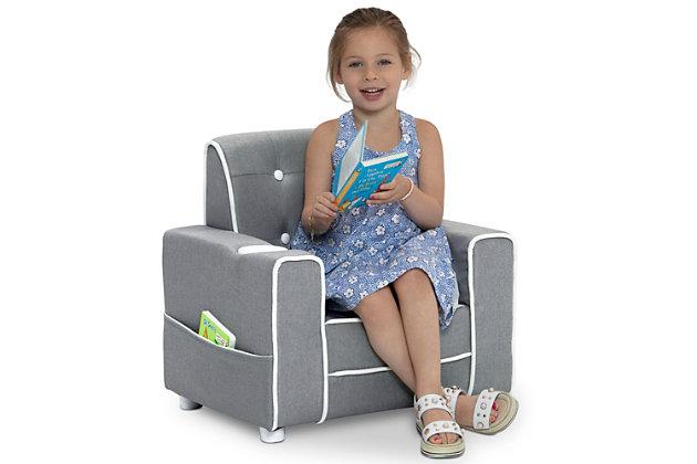 Delta Children Chelsea Kids Upholstered Chair, , large