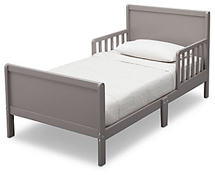 Delta Children Fancy Wood Toddler Bed, Gray, large