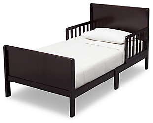 Delta Children Fancy Wood Toddler Bed, Dark Chocolate, large