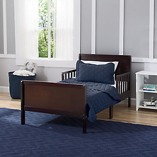Delta Children Fancy Wood Toddler Bed, Dark Chocolate, rollover