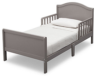 Delta Children Bennett Wood Toddler Bed, Gray, large