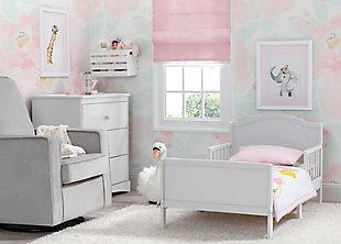 Delta Children Bennett Wood Toddler Bed, White, rollover