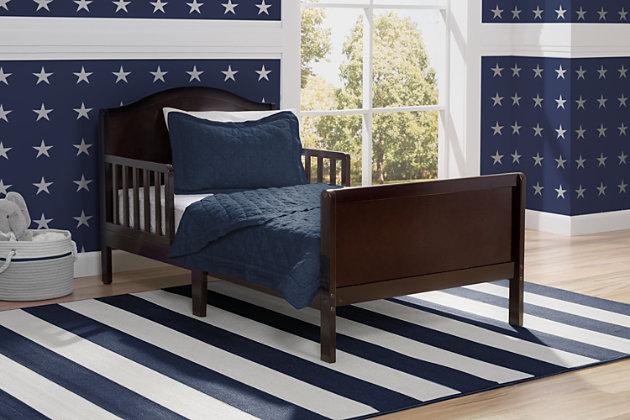 Delta Children Bennett Wood Toddler Bed, Dark Chocolate, large