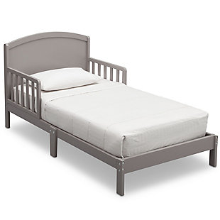 Delta Children Abby Wood Toddler Bed, Gray, large