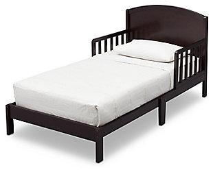 Delta Children Abby Wood Toddler Bed, Dark Chocolate, large