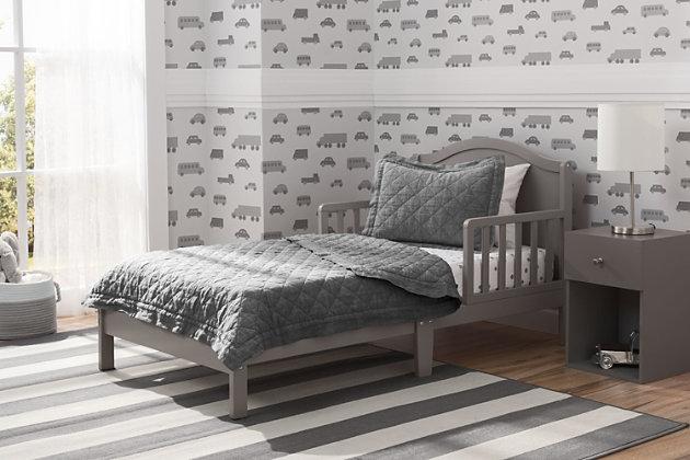 Delta Children Baker Wood Toddler Bed, , large