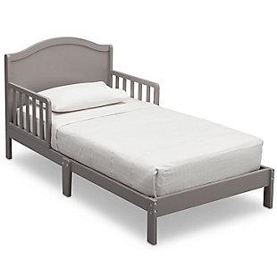 Delta Children Baker Wood Toddler Bed, Gray, large