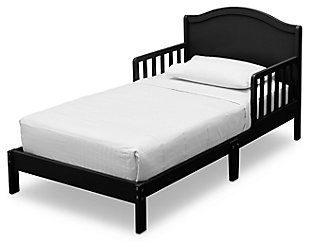 Delta Children Baker Wood Toddler Bed, Black, large