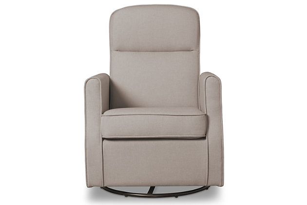 Delta Children Blair Slim Nursery Glider Swivel Rocker Chair, Taupe, large