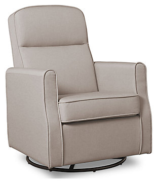 Delta Children Blair Slim Nursery Glider Swivel Rocker Chair, Taupe, large