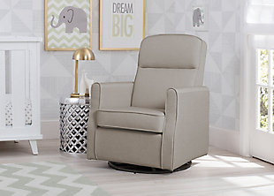 Delta Children Blair Slim Nursery Glider Swivel Rocker Chair, Taupe, rollover