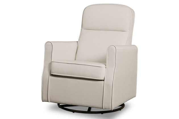Delta Children Blair Slim Nursery Glider Swivel Rocker Chair, Cream, large