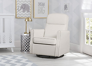 Delta Children Blair Slim Nursery Glider Swivel Rocker Chair, Cream, rollover