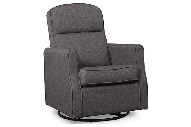 Delta Children Blair Slim Nursery Glider Swivel Rocker Chair, Gray, large
