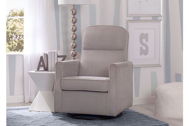 Delta Children Clair Slim Nursery Glider Swivel Rocker Chair, , large