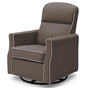 Delta Children Clair Slim Nursery Glider Swivel Rocker Chair, Graphite, large