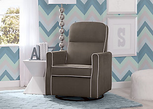 Delta Children Clair Slim Nursery Glider Swivel Rocker Chair, , rollover
