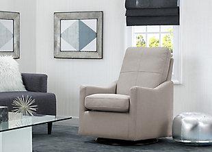 Delta Children Kenwood Slim Nursery Glider Swivel Rocker Chair, Taupe, large