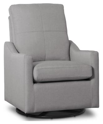 Delta Children Kenwood Slim Nursery Glider Swivel Rocker Chair, French Gray, large