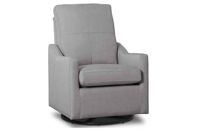 Delta Children Kenwood Slim Nursery Glider Swivel Rocker Chair, French Gray, large