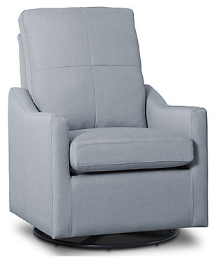 Delta Children Kenwood Slim Nursery Glider Swivel Rocker Chair, Sea Breeze, large