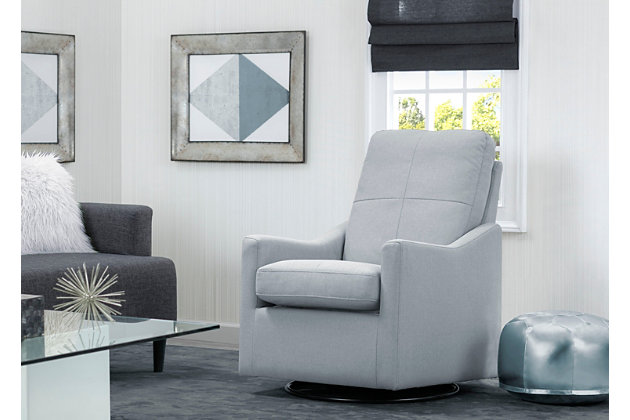 Delta Children Kenwood Slim Nursery Glider Swivel Rocker Chair, Sea Breeze, large