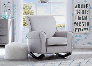 Delta Children Rowen Nursery Rocking Chair, Dove Gray, rollover