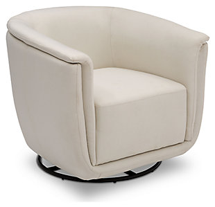 Delta Children Skylar Nursery Glider Swivel Rocker Tub Chair, Cream, large
