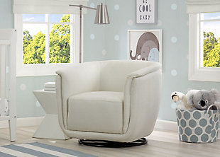 Delta Children Skylar Nursery Glider Swivel Rocker Tub Chair, Cream, rollover