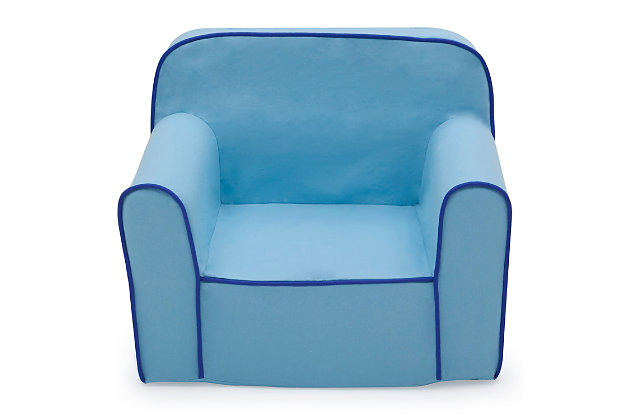 Delta Children Foam Snuggle Chair, Blue, large