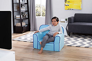 Delta Children Foam Snuggle Chair, Blue, rollover