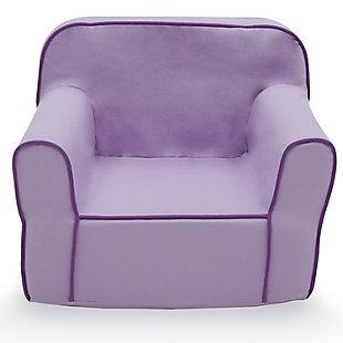 Delta Children Foam Snuggle Chair, Purple, large