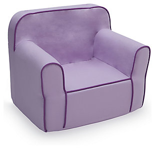 Delta Children Foam Snuggle Chair, Purple, large