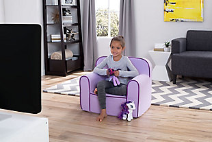 Delta Children Foam Snuggle Chair, Purple, rollover
