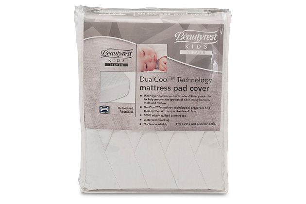 Delta Children DualCool Technology Fitted Baby Crib Mattress Pad Cover, , large