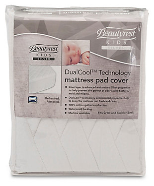 Delta Children Dualcool Technology Fitted Baby Crib Mattress Pad Cover, , rollover