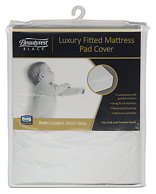 Delta Children Beautyrest Black Luxury Fitted Mattress Pad Cover, , rollover