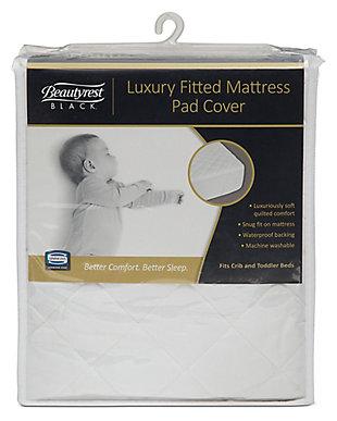 Delta Children Beautyrest Black Luxury Fitted Mattress Pad Cover, , rollover