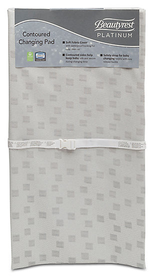 Delta Children Beautyrest Silver Platinum Contour Changing Pad, , large