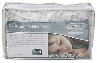 Delta Children Beautyrest Kids Silver Dualcool Kids Toddler Pillow, , rollover