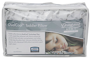 Delta Children Beautyrest Kids Silver Dualcool Kids Toddler Pillow, , large