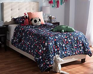 Brookfield Full Upholstered Bed, Medium Gray, rollover