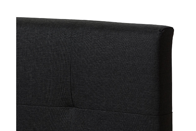 Brookfield Twin Upholstered Bed, Charcoal, large