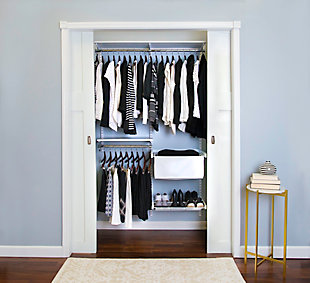 "Organized Living freedomRail® Premium Adjustable Closet Kit, 48""-52"", White, large"
