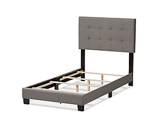 Brookfield Twin Upholstered Bed, Medium Gray, large