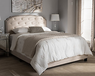 Button Tufted Full Upholstered Bed, , rollover