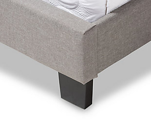 Upholstered Queen Upholstered Bed, Gray, large