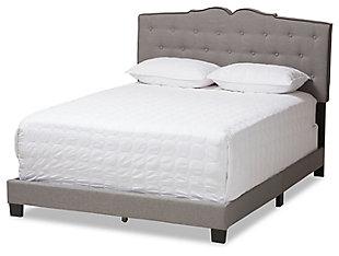 Vivienne Full Upholstered Bed, Gray, large